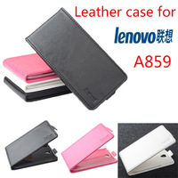 Lenovo A859 Case New High Quality Genuine Filp Leather Cover Case for Lenovo A859 free shipping In stock