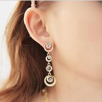 Min.order is $10(mix order)New Full drill Water Drop Dangle Hook Earrings