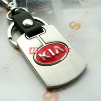 Free shipping 4 s shop customized gifts/kia's new car key chain/metal alloy logo key chain Christmas