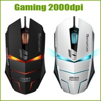 2014 Top Gaming Mouse 2000DPI Laptop usb Wired Mouse of lol cf CS Dota Electric Backlight Luminous
