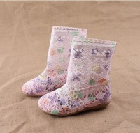 2014 Summer cutout  boots Children's boots knitted net boots sandals child shoes breathable hole shoes