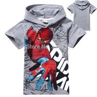 1pcs New 2014 boys t shirt girls nova top t-shirts for kids baby children's spiderman summer cartoon children t shirts clothing