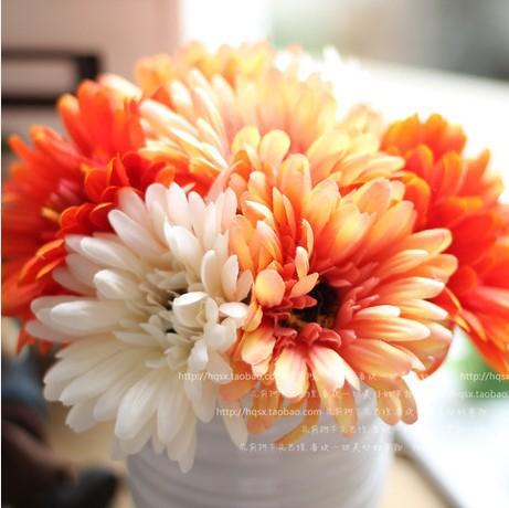 Mobiliário pastorais flores arranjos simulação flores de seda flor artificial decoração flor Gerbera(China (Mainland))
