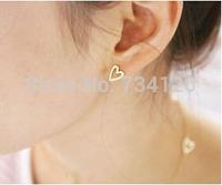 EX062 hot selling 2014 wholesale Jewelry sell minimalist love queen Heart Love Earrings Stud Earrings  for women