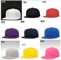 NEW Cotton Hip-Hop Cap Solid Color Flat Visor Adjustable Baseball Hat Snapback  G4007