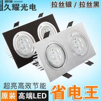 Led double slider spotlights tv background wall led grille ventured lamp 10w