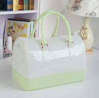 2014 new female bag Spring and summer candy colored jelly bag handbag Boston pillow bag  OU763