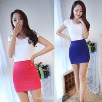 Hot Sale Fashion Lady Short A Dress New Skirts For Women High Waist Skirt 2014 Summer Dresses Mini Skirts Free Shipping