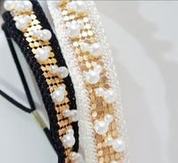 freeshipping wholesale retail fashion vintage pearl sewing sequin headband popular fashion hair accessories