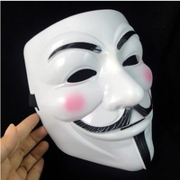 Free shipping for Fedex   guy fawkes V vendetta team pink blood scar masquerade masks (size 22*17*8 )  100 pcs/lot
