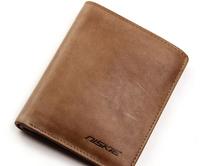 Men's Wallet Brand Name Genuine Leather Purse Vintage Brown Gent Cowhide Carteira