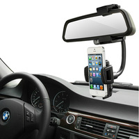 Universal Car Rearview Mirror Holder Mount Cradle for All Mobile Cell Smart Phone Samsung Galaxy Nokia GPS MP4 PDA PSP