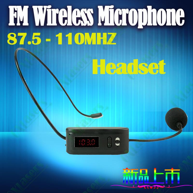 fm parleur et microphone sans fil pour mégaphone bus guide de promotion des ventes de conférence sans fil casque livraison gratuite