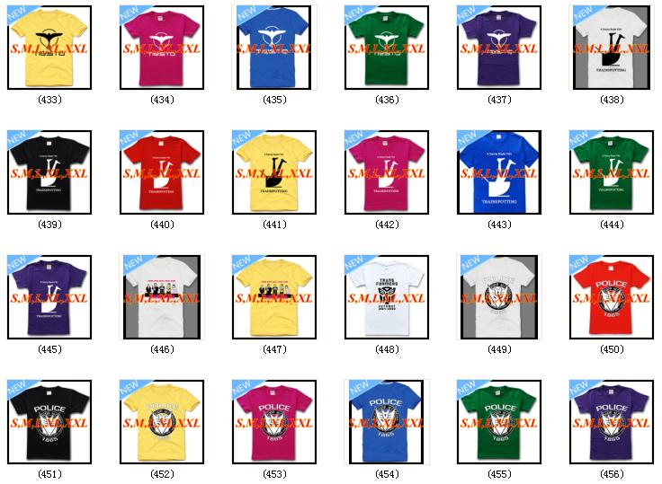 homem primavera 2014 novos 498 estilos Rocha Trainspotting Ártico Avicii Blink camisa homens reggae slipknot aranha t amarelo rosa azul(China (Mainland))