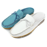 men's summer slipper shoes loafers leather Moccasins slides sandals slip on shoes Eur 37 to 44 Retail/wholesale Free shipping