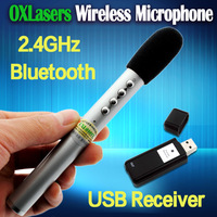 pen shaped  portable 2.4G wireless microphone handheld  with Wireless laser presenter for conference and teaching free shipping