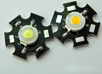 1W High light LED Bulbs High power Lamp beads Pure White/Warm White 300mA 3.2-3.4V Free shipping