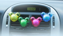 1Pack = 2pcs Mickey Design Candy Color Air Freshener Perfume Diffuser for Auto Car perfume holder randomly color freeshipping(China (Mainland))