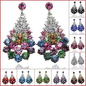 Полный Austrian Горный хрусталь Crystal Stud Earrings for Женщины ! Vintage Big Earrings ...