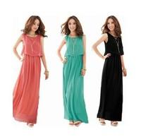 fashion bohemia beach dress long paragraph ultra chiffon full dress one-piece dress