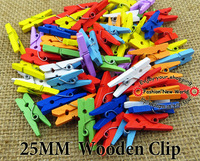 25MM 100PCS MIXED  PATINTING WOODEN CLIP JEWELRY FINDINGS FIT jewelry charms WJA-037