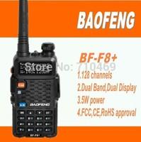 DHL freeshipping+Baofeng F8+ long range dual band walkie talkie handie 10km bf-f8 uv f8+with earphone for baofeng uv5r