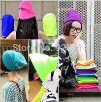28 Colors Free Shipping Hot Sale 2014 Fashion Knitted Neon Women Beanie Girls Autumn Casual Cap Women's Warm Winter Hats Unisex
