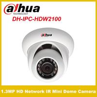Original Dahua IPC-HDW2100  1.3MP HD Network IR Mini Dome Camera IP CCTV  Camera Power Supply PoE  Free shipping