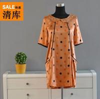 Summer Ladies silk satin Dress Women's Short Dresses D05G