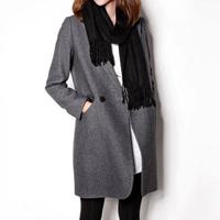 2014 O-mei fashion thin woolen outerwear overcoat medium-long suit wool coat