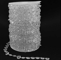 Free Shipping 30M/99 FT Acrylic Crystal Clear Bead Garland Diamond Strand Wedding Decor