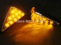 10MM Clear Euro LED Flush Mount Turn Signal for Honda 00-01 CBR 929 RR / 02-03 CBR 954 RR Freeshipping