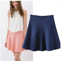 2014 New Summer Fashion Women's Solid Color Elegant Skirt A-line skirts SML
