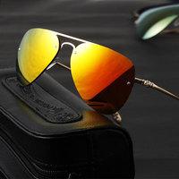 New 2014 Fashion Summer Metal Aviator Retro Vintage Sunglasses Women Man Sunglass Oversized Rimless Sunglasses Dropshipping
