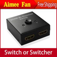 Жк-hdmi 2 разъём(ов) би-тур направление ручное переключение 2 разъём(ов) 2 x 1 HDMI переключатель переключатель-преобразователь би-тур направление видео разветвитель для 1080 P 3D HDTV