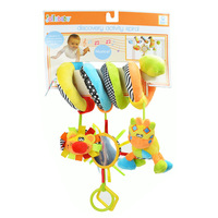 Jollybaby plush Twirly Whirly Toy spiral crib wrap around baby musical toys with mirror