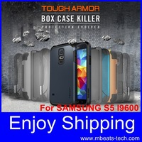 wholesale DHL free shipping 20 pcs/lot slim armor protective case for galaxy s5 i9600
