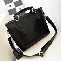 New Stylish 2014 Sac Fashion for Women Leather Handbag Handle Black PU Leather Tote Women Messenger Bag Motorcycle Items