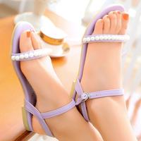 Brand New Top Designer Beading Flat Sandals for Women Dress Footwear Women's Shoes Black Beige Purple Blue Hot Selling Sale