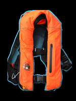 Super quality CE MED certified ISO12402-3 Adult automatic Inflatable life jacket 150N  personal float device with free shipping