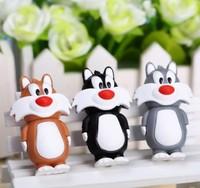 AC18 2014 Wholesales Cute Cartoon Black/Gray/Brown Cats Animal Model usb 2.0 memory flash stick pen drive/disk Toys Gift