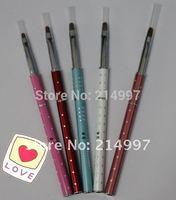 Wholesale Nail Brush+New Design Nail Tools 2# Pure kolinsky professional diamond painting flower Nail gel brush