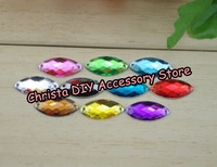 New 2014 100pcs/lot 9*18mm Shiny Rhinestones For Clothing 10 Colors Mixed Sewing Accessories Flatback DIY Free Shipping
