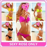 2014 New Style Super popular Ladies Steel bracket Gathered Chest Swimsuit Women's Bikini Sexy Two-piece Bathing suit