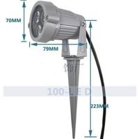 Free Shipping New 1Pcs  Waterproof 3W 12V 220V LED Flood Light  Spot Light Garden Landscape Lamp Red=Purple