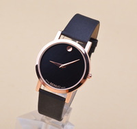 Hot sell! Fashion Gold Luxury Leather Quartz Watches wrist watch Womens men