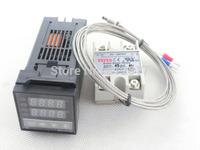 C100FK02-M*AN 240V Digital PID Temperature Controller max.40A SSR40DA K Thermocouple Probe