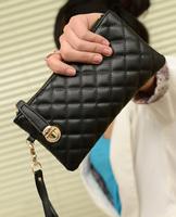 New arrival 2014 Sac Fashion for Summer Women Purse Handbag Plaid day Clutch Small Brand Woman bag Wallet sachet Free shipping