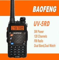 DHL freeshipping+Cheapest 5 Watts 128Channels dual band handie talkie VHF UHF two way radio BAOFENG UV-5RD radio transmitter