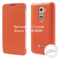 For LG G2 Cover, Litchi Leather & Plastic Protector Case for LG Optimus G2 D801 D802 free shipping